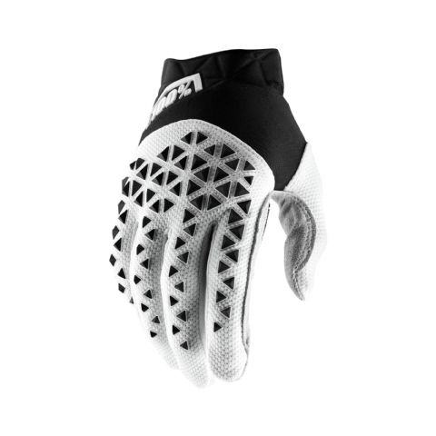 AIRMATIC 100% Glove Black/White/Silver